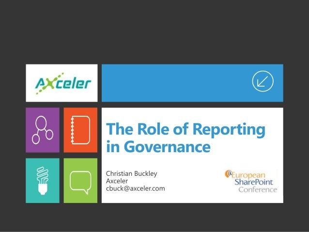 The Role of Reporting in Governance
