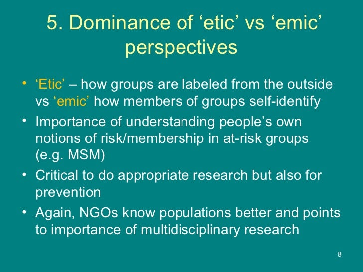 emic etic advantage