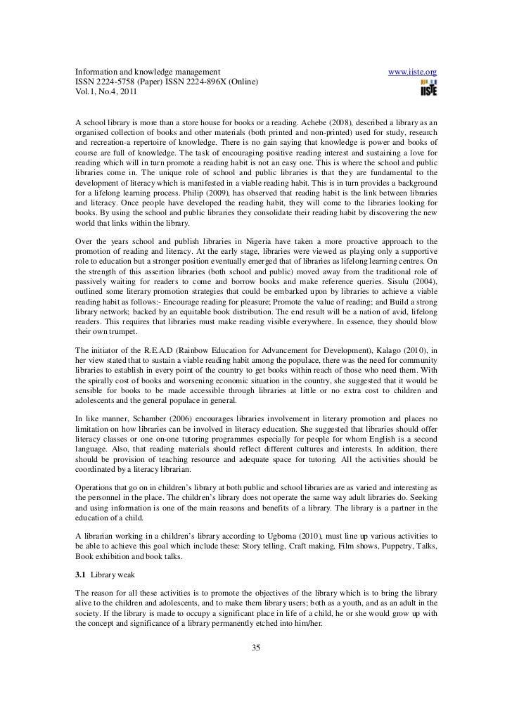 essay on promoting reading habits