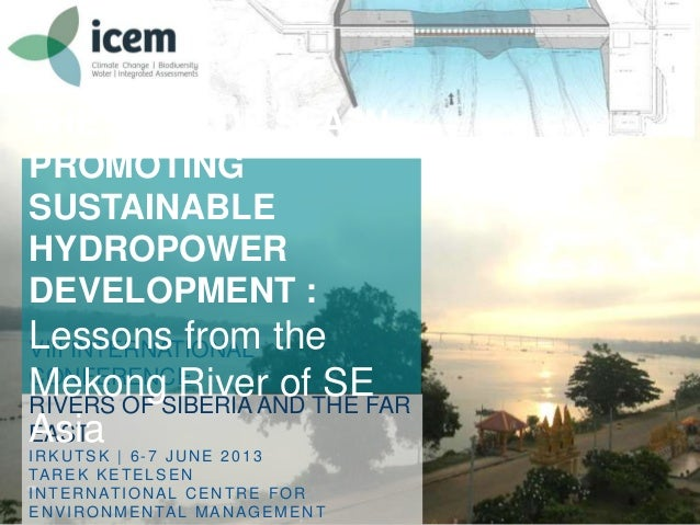 The role of sea in promoting sustainable hydropower development