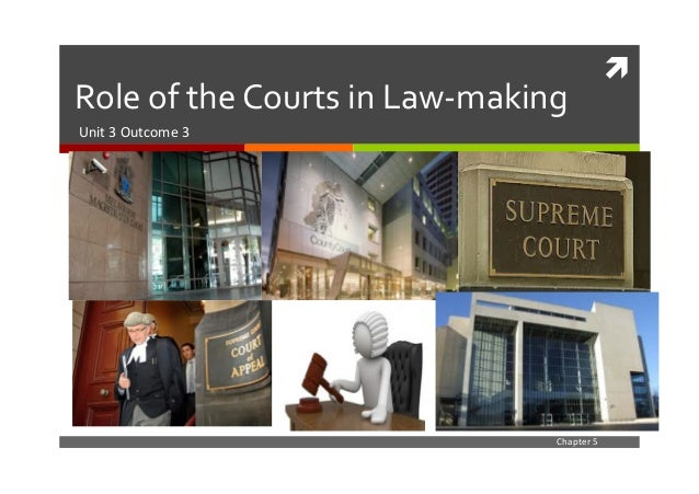 !	    Role	   of	   the	   Courts	   in	   Law-­‐making	    Unit	   3	   Outcome	   3	    Chapter	   5
