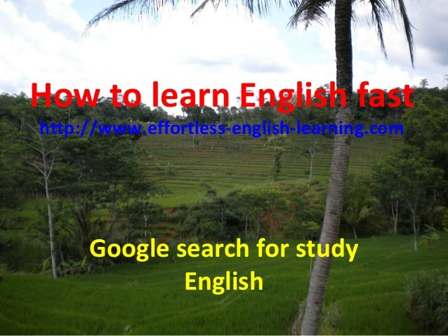 The roles to learn English fast