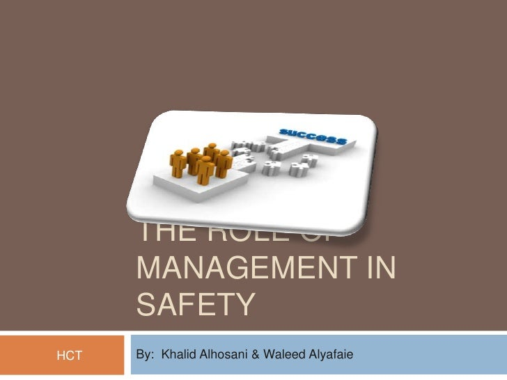Safety role of management