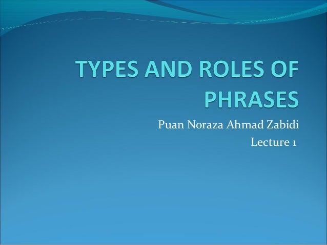 Puan Noraza Ahmad Zabidi Lecture 1