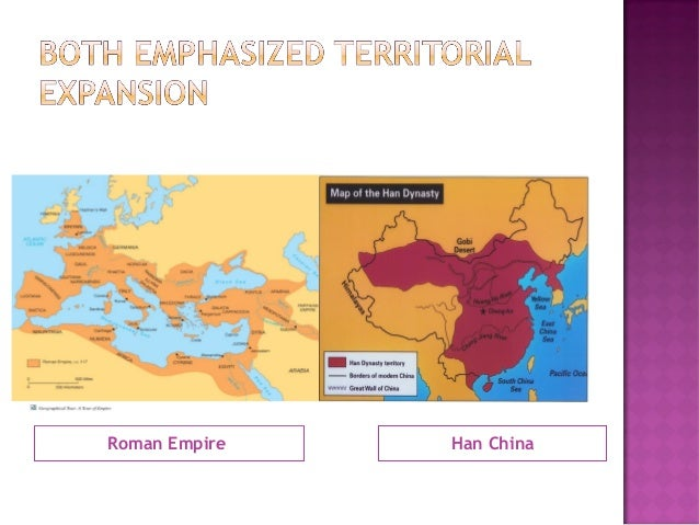 roman vs han Han vs rome the han dynasty and the roman empire were both very prosperous during the time period of 200 b c e -400 c e the han dynasty reached the pax sinica, under the rule of.