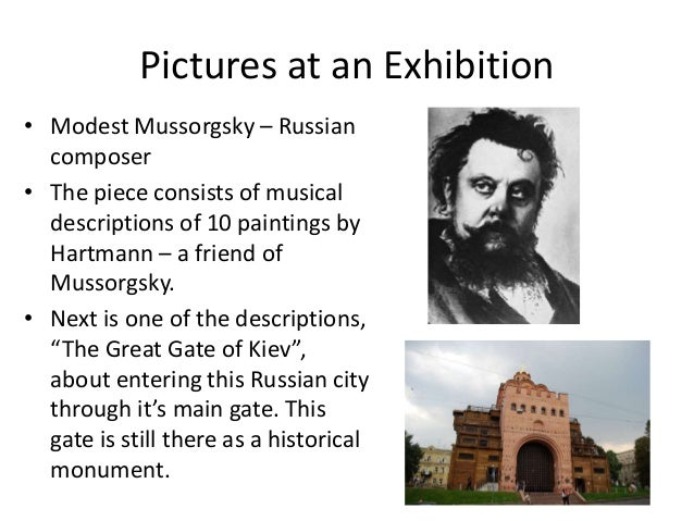 mussorgskys pictures at an exhibition essay