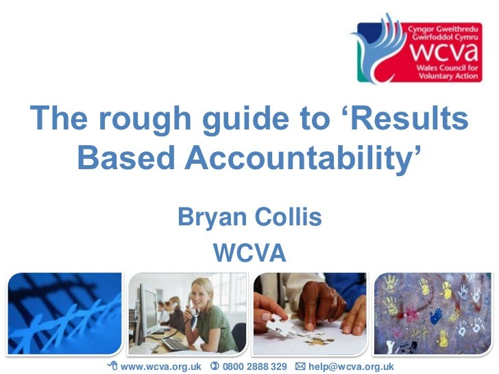 The rough guide to results based accountability
