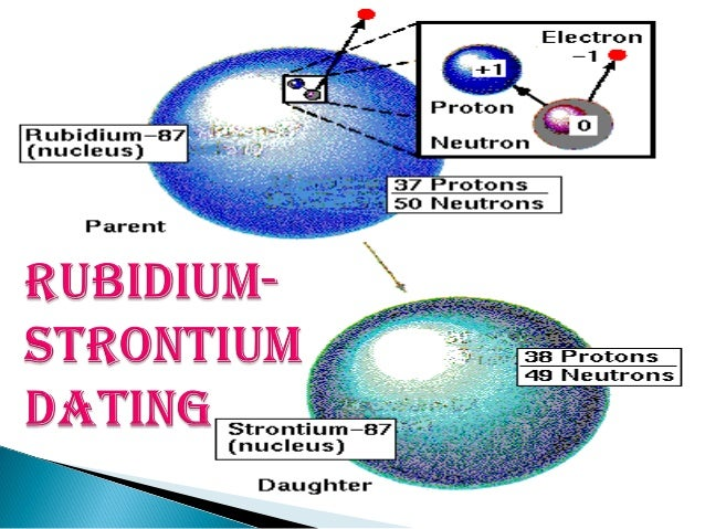 rubidium strontium dating Answer to rubidium-strontium dating the rubidium isotope 8737rb, a emitter with a half-life of 475.