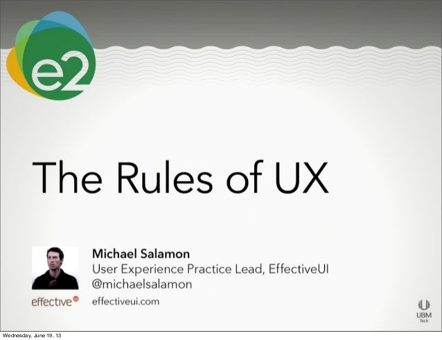 The Rules of UX - Enterprise 2.0