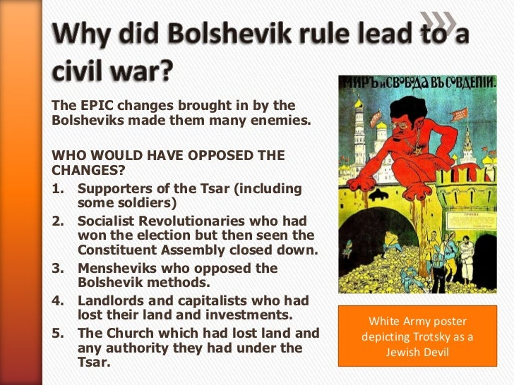 why did the bolsheviks win the russian civil war essay Why the bolsheviks won the russian civil war history essay  question #5:  why did the reds win the russian civil war (1918 to 1921) thesis: the reds.