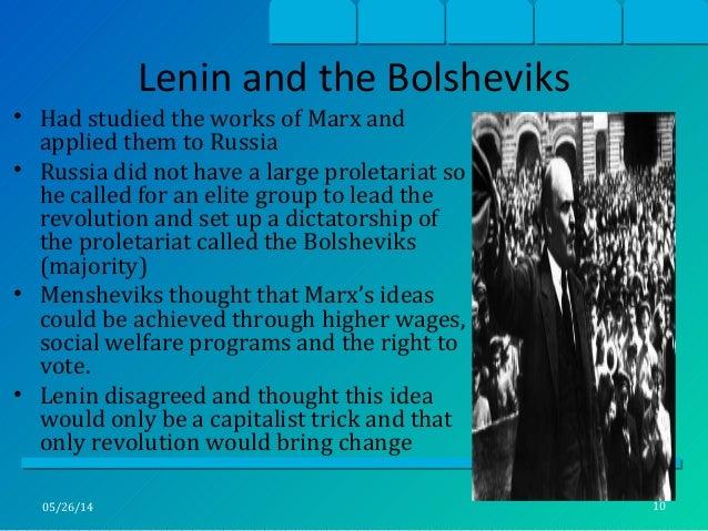 Explain how Marxism contributed to the Bolshevik Revolution?