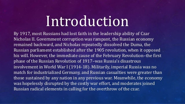 In your opinion, were the conditions in Russia better before or after the March revolution of 1917?
