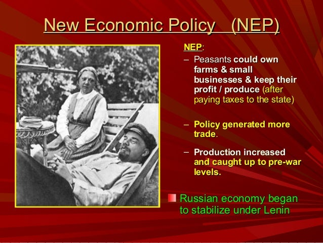 Image result for Lenin's New Economic Policy