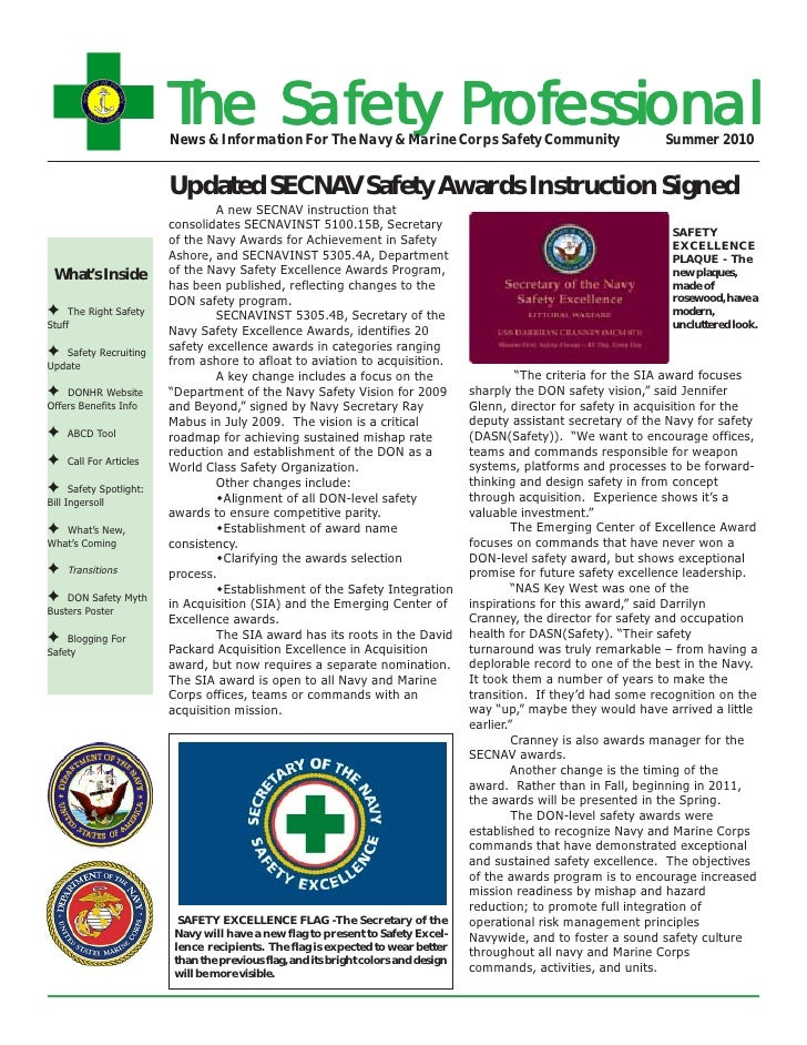 The Safety Professional                           News & Information For The Navy & Marine Corps Safety Community         ...