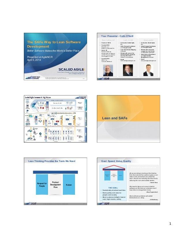 1   1© 2008 - 2014 Scaled Agile, Inc. and Leffingwell, LLC. All rights reserved. © 2008 - 2014 Scaled Agile, Inc. and Le...