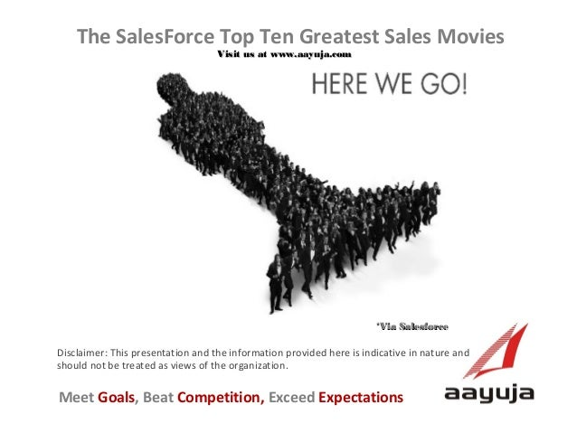 The SalesForce Top Ten Greatest Sales Movies