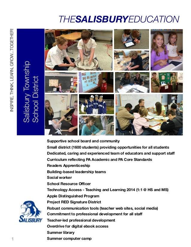 Salisbury Township School District  INSPIRE, THINK, LEARN, GROW...TOGETHER!  THESALISBURYEDUCATION  Supportive school boar...