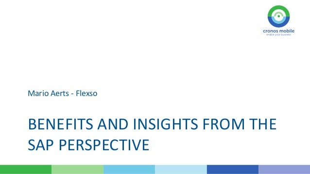 Mario Aerts - Flexso  BENEFITS AND INSIGHTS FROM THE SAP PERSPECTIVE