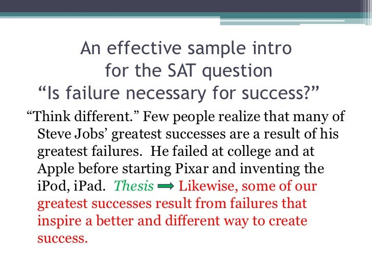 Essay Success Starts With Failure