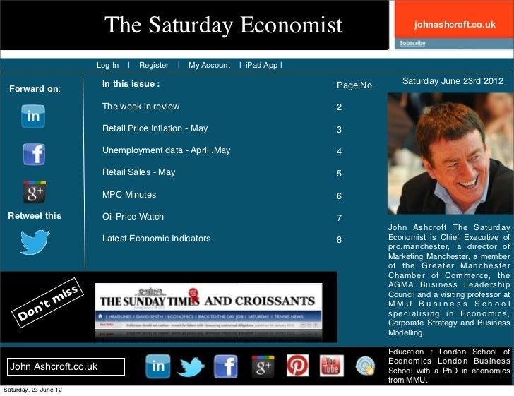 The saturday economist 23rd june