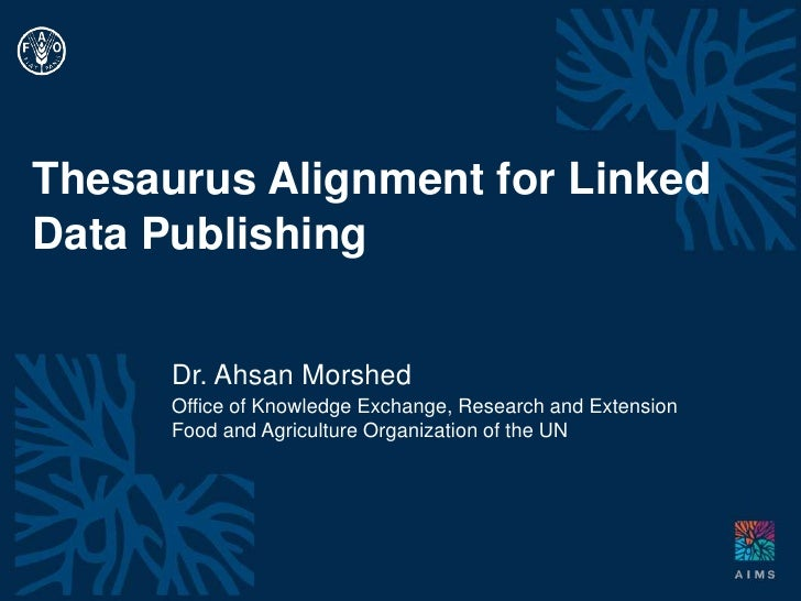 Thesaurus alignment for linked data publishing DC 2011