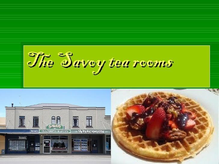 The Savoy tea rooms