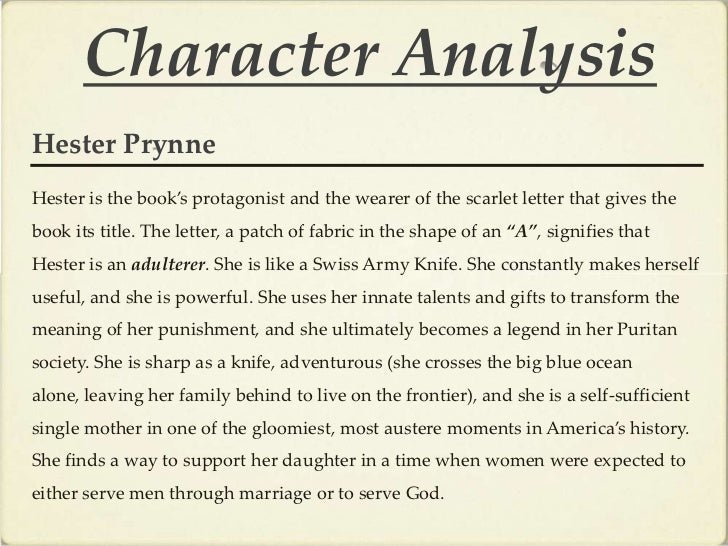 The scarlet letter essays on hester