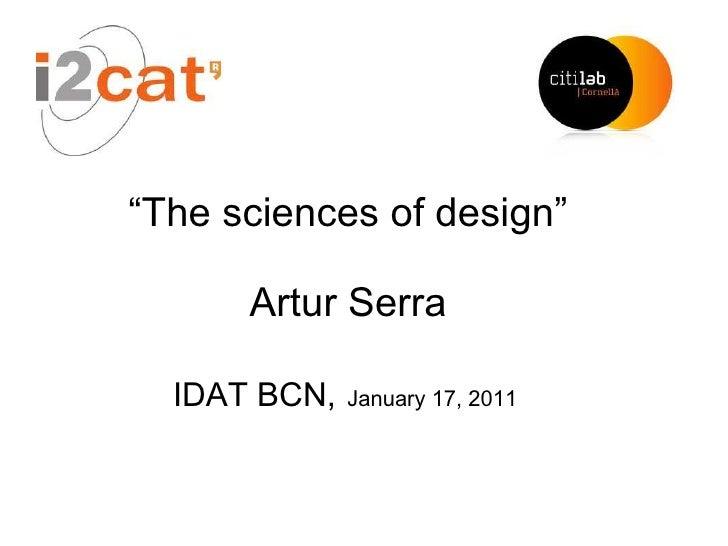 The sciences of design