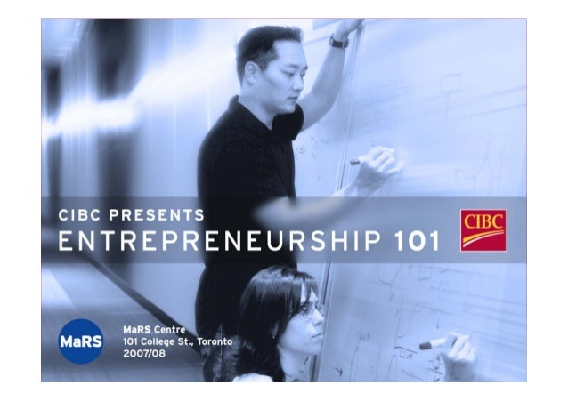 CIBC Presents Entrepreneurship 101
