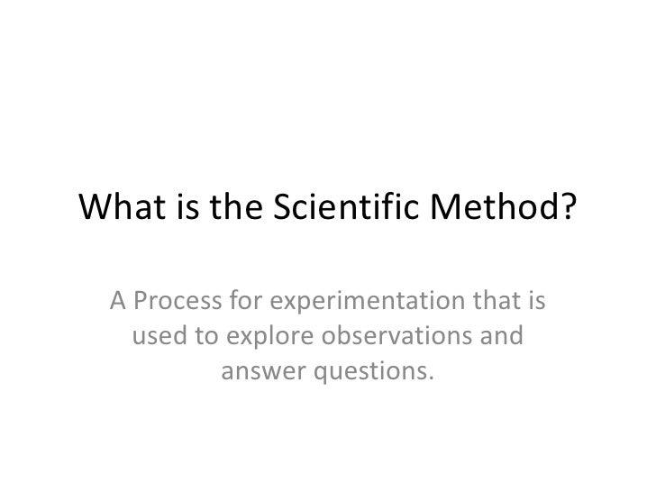 The Scientific Method Power Point
