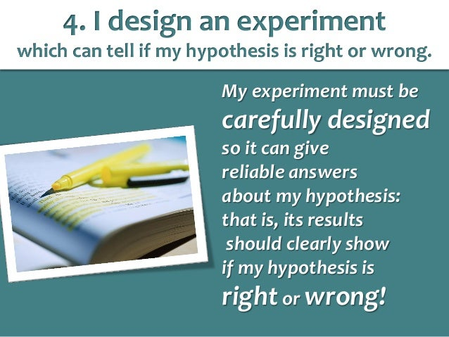 How to test a hypothesis