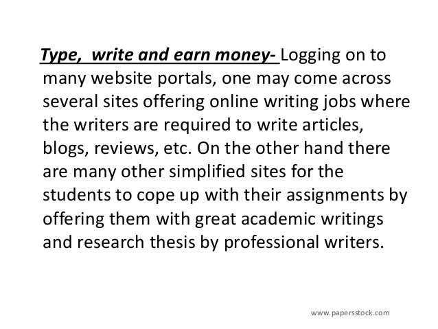 Online writing business