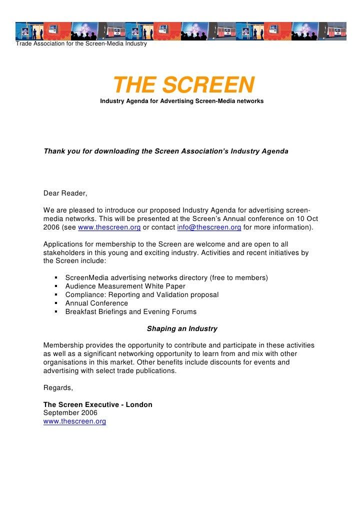Trade Association for the Screen-Media Industry                                       THE SCREEN                          ...