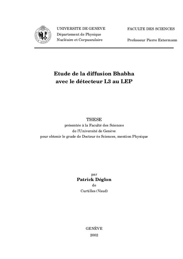 Patrick Deglon PhD Thesis - Bhabha Scattering at L3 experiment at CERN