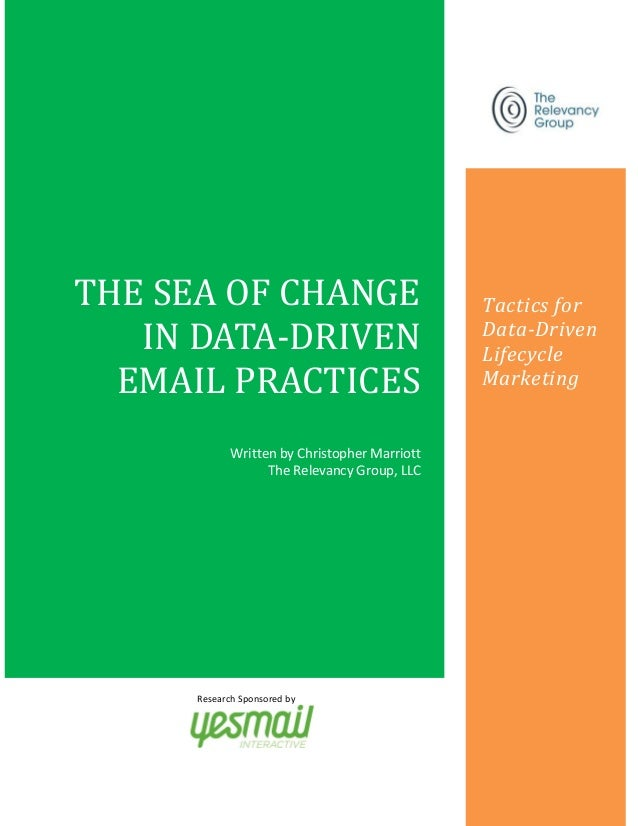 Research Sponsored by Tactics for Data-Driven Lifecycle Marketing May, 2013 THE SEA OF CHANGE IN DATA-DRIVEN EMAIL PRACTIC...