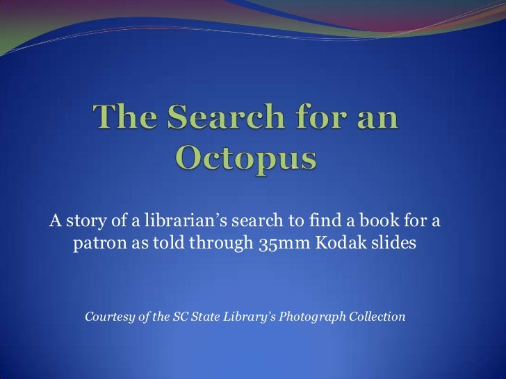 The Search for an Octopus