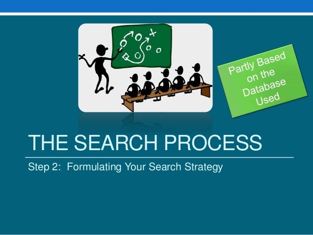 THE SEARCH PROCESSStep 2: Formulating Your Search Strategy