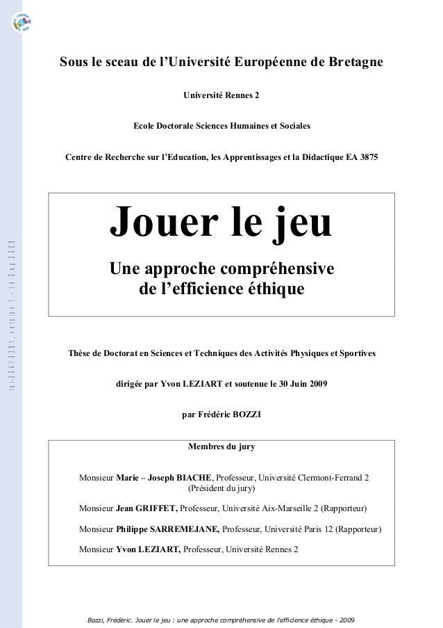 Sous le sceau de l'Université Européenne de Bretagne Université Rennes 2 Ecole Doctorale Sciences Humaines et Sociales Cen...