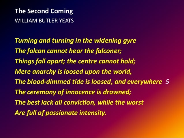 an analysis of the poem the second coming