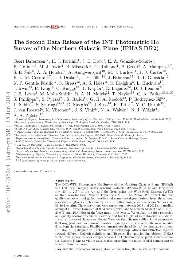 Mon. Not. R. Astron. Soc. 000, 1–23 (2014) Printed 20 June 2014 (MN LATEX style file v2.2) The Second Data Release of the I...