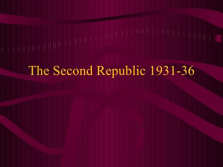 The Second Republic 1931-36