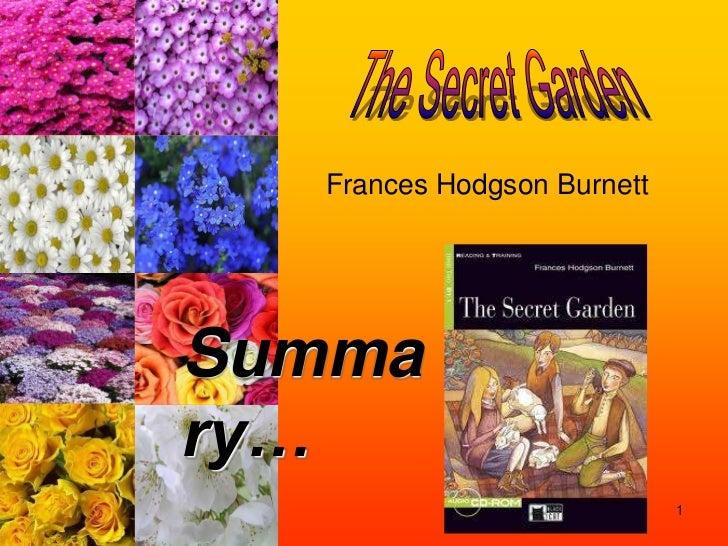 Frances Hodgson BurnettSummary…                            1