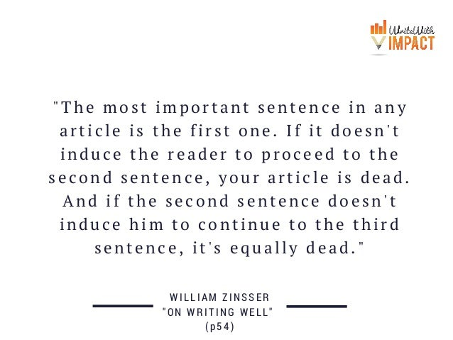 The Most Important Sentence In
