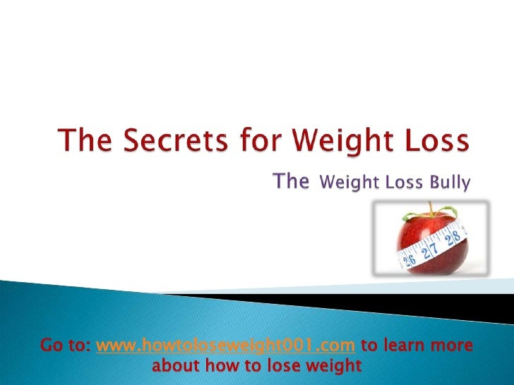 The secrets for weight loss 2