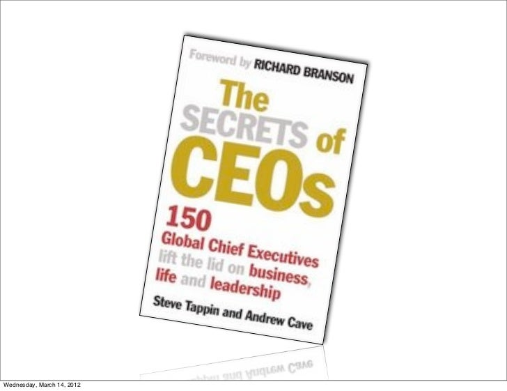 The secrets of CEOs