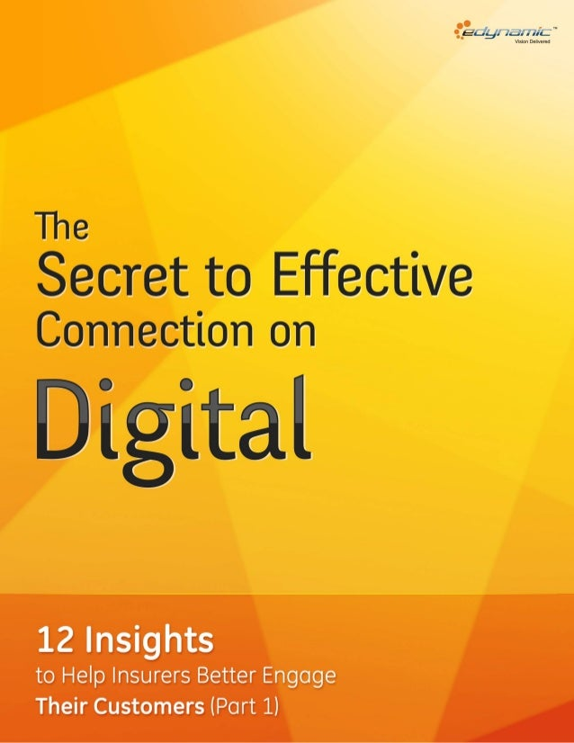The secret to effective connection on digital – driving customer engagement for insurers