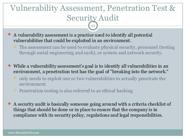 Security Audit: Security Audit Vulnerability Assessment