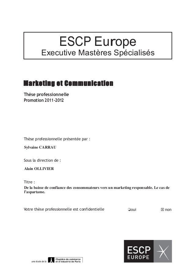 ESCP Europe                        Executive Mastères SpécialisésMarketi...