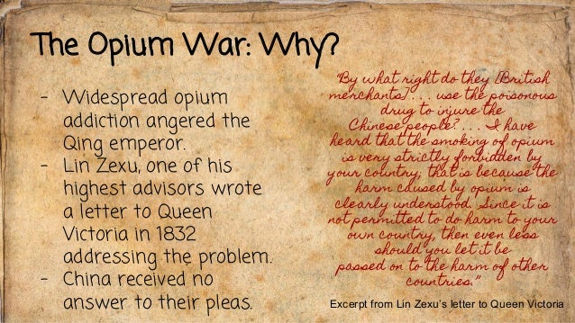 the opium wars essay