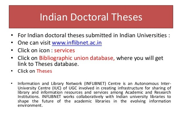 Doctoral thesis databases